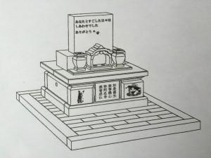ペット・動物合同供養塔完成イメージ図